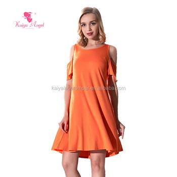 88f2ca2690cba atacado boutique de roupas femininas cor sólida bom desgaste vestido de  algodão senhoras vestidos ...
