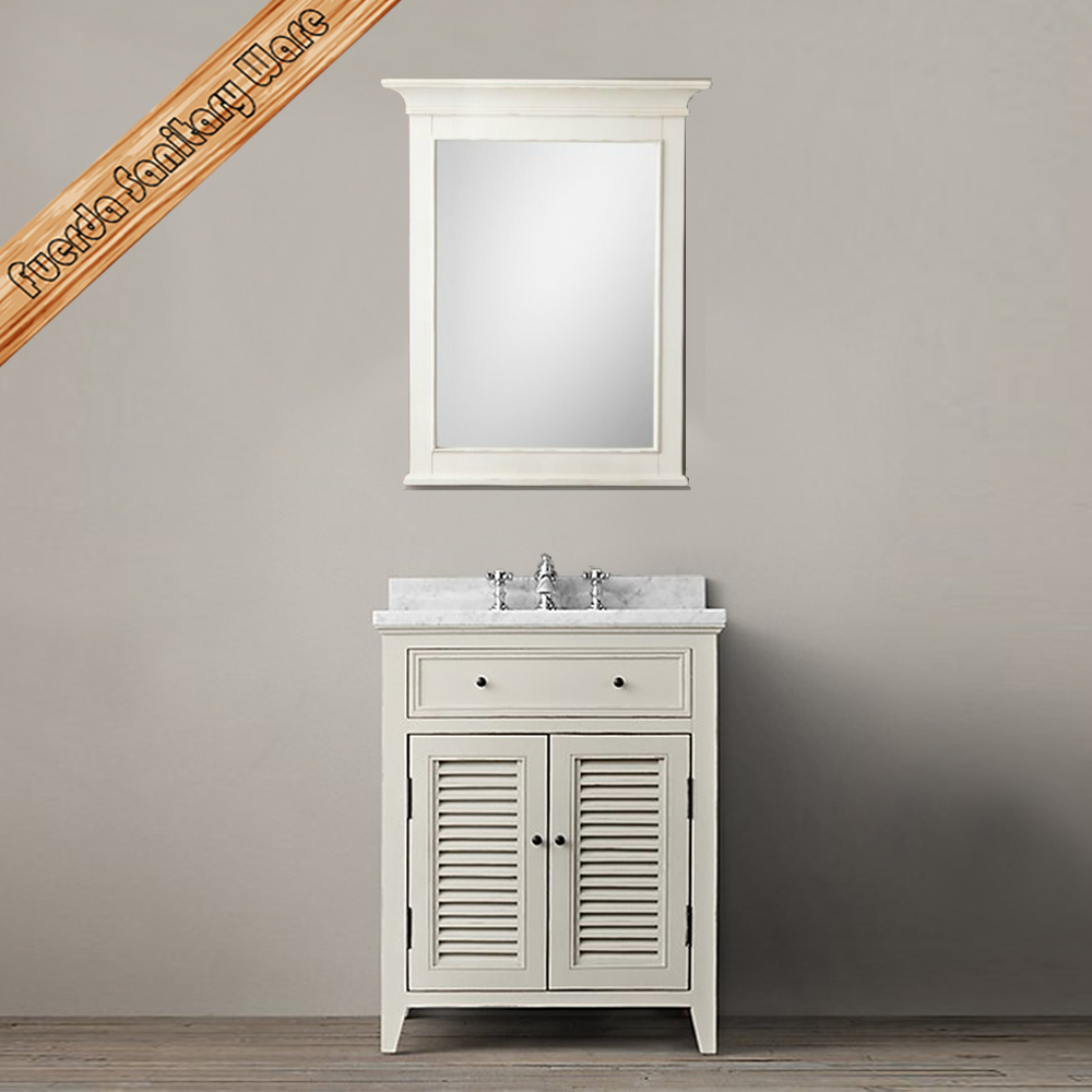 FED-1679A Transitional white bathroom vanity,bathroom cabinet,bathroom funiture