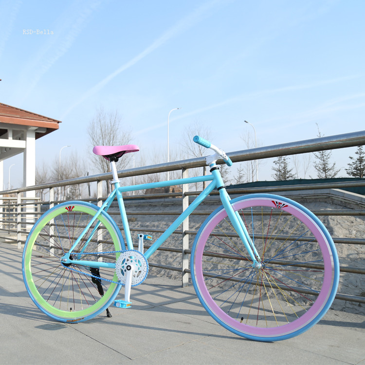 CE standard 700C Colorful taiwan fixed gear bike / single speed fixed gear bike frame hi-quality from China titanium bikes fixie