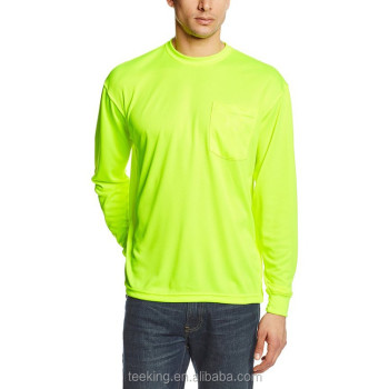 Wholesale Mens Long Sleeve Hi-vis T Shirt