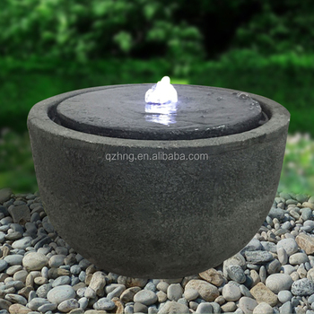Stone Looks Lighting Water Fountain