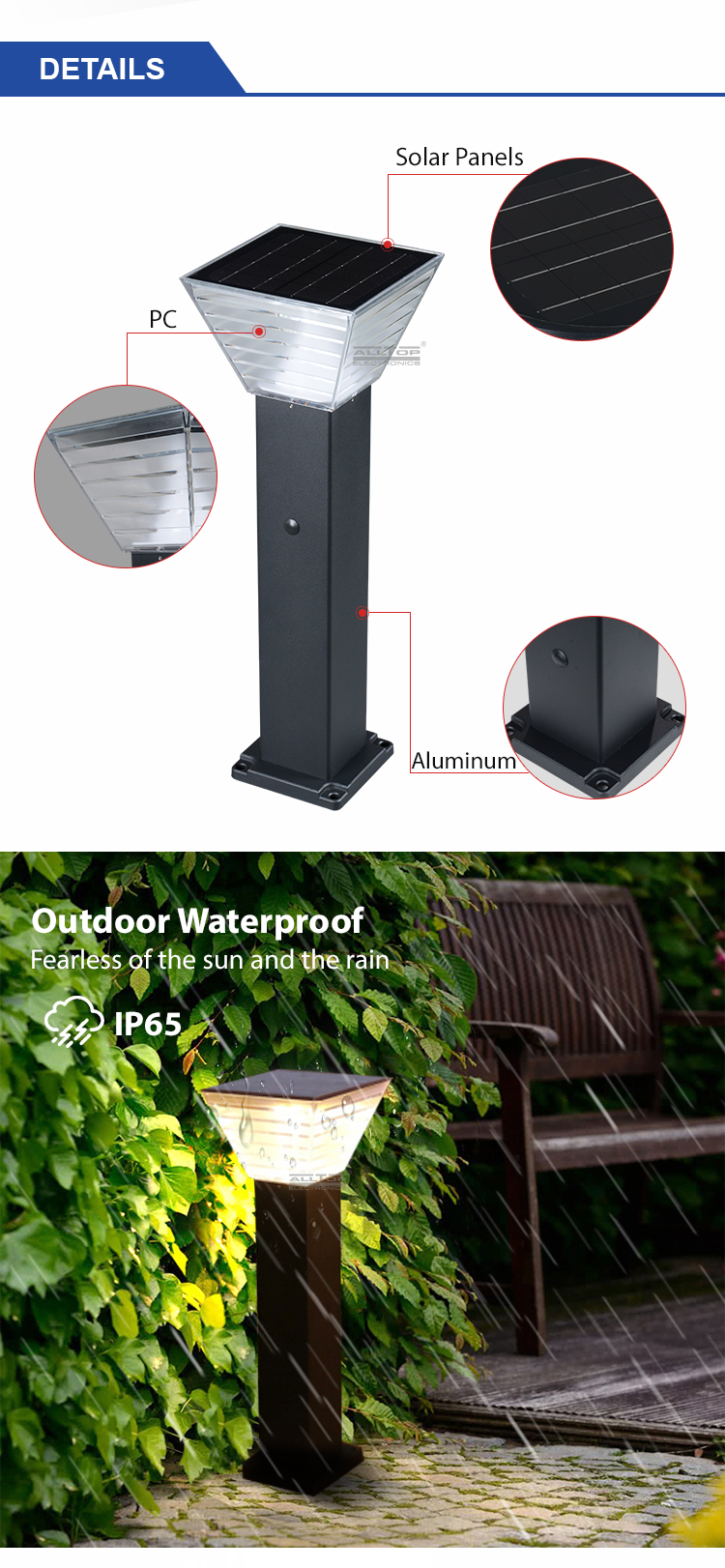 solar led garden light factory-13