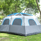 2017 hot sale 8 to 10 people family outdoor camping fishing tent on sale
