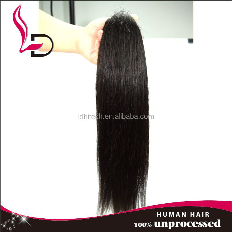 silk straight two tone wrap around human hair ponytail