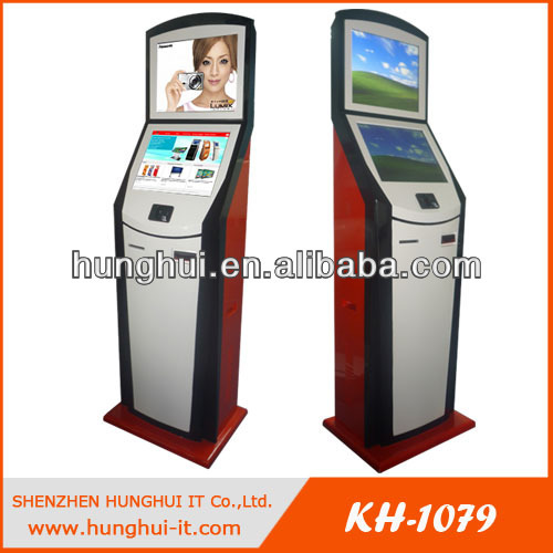 dual screen cash dispenser machine kiosk