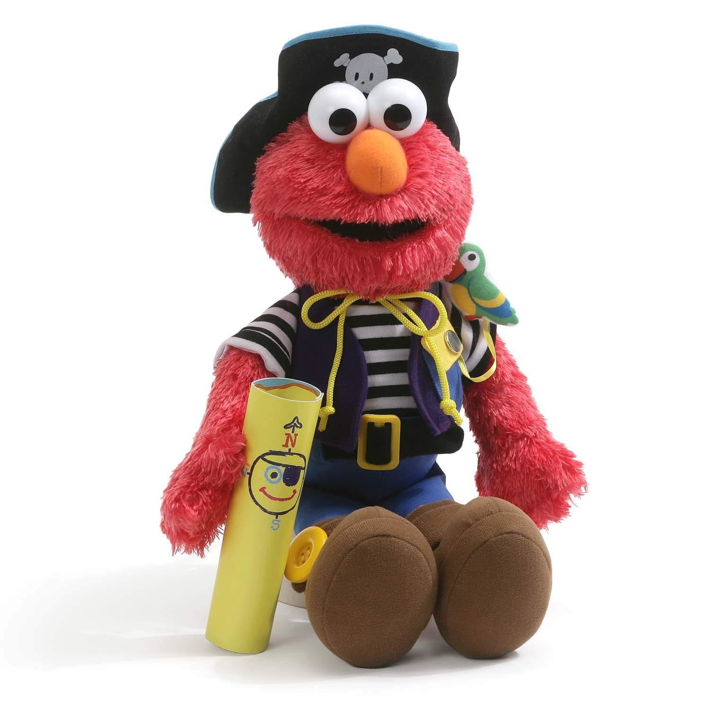 69d2e3505f Get Quotations · GUND Elmo s World Teach Me Pirate Plush Sesame Street Toy  Stuffed Plush Toy