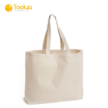 Custom printed wholesale tote blank simple large capacity cotton canvas  tote bag a1355dbfaf12