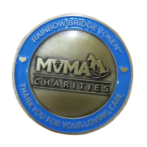 coin for CHARITIES RAINBOW BRIDGE TOKEN thanks you for your loving care