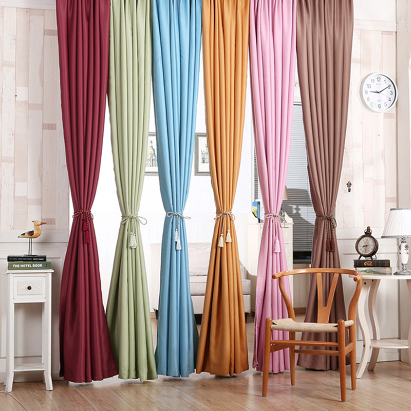 Blackout Thermal Solid Window Curtain  Free Shipping FULI
