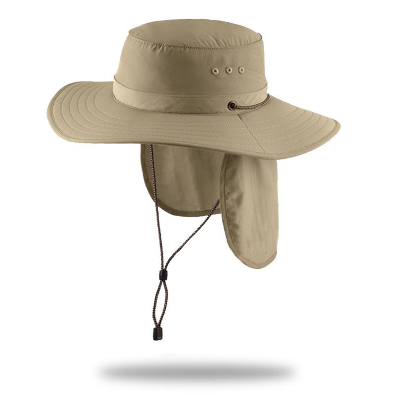 0b8de1eeac4 Summer UV Protection Hat Safari Hiking Fisherman Cap Fishing Bucket Hat  With Neck Cover