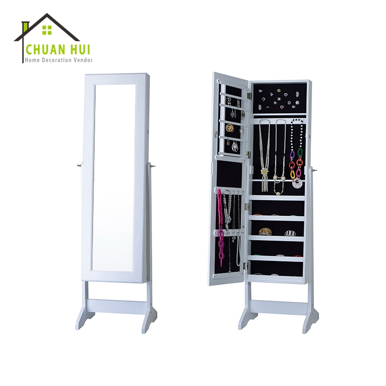Chinese jewelry mirror cabinet , bedroom cabinet with mirror