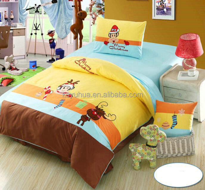 Embroidery children kids bedding wholesale