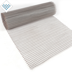 Modern mobile manufacturing extruder mild stainless steel mesh rectangle hole conveyor sheet belt