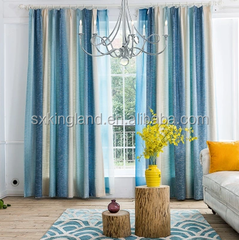 Curtains For Bedroom Printed Geometric Kitchen Curtain Blue Linen Curtain -  Buy Curtain Design For Bedroom,Fancy Kitchen Curtains,Christmas Design ...