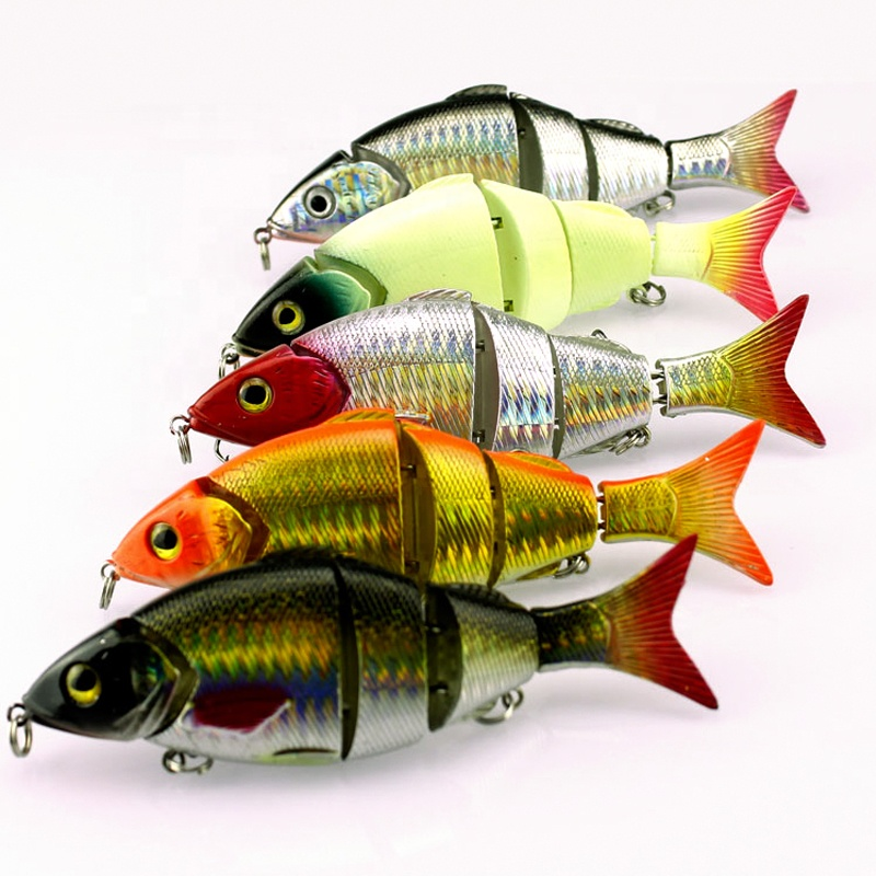 2019 Wholesale 13cm 20.8g swimbait Multi Jointed Lure jerkbait fishing hard glide bait, 5 colors available