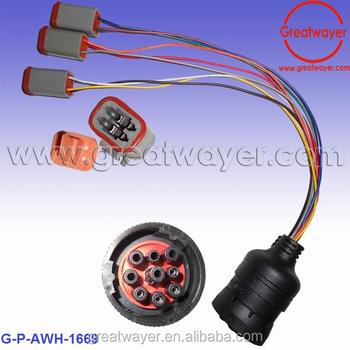 J1939 9 Pin Socket Adapter Heavy Truck Wire Harness - Buy J1939 9 Pin on