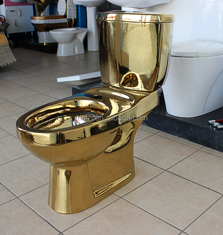 Ceramic Two Piece Gold Color Toilet Buy Color Toilet
