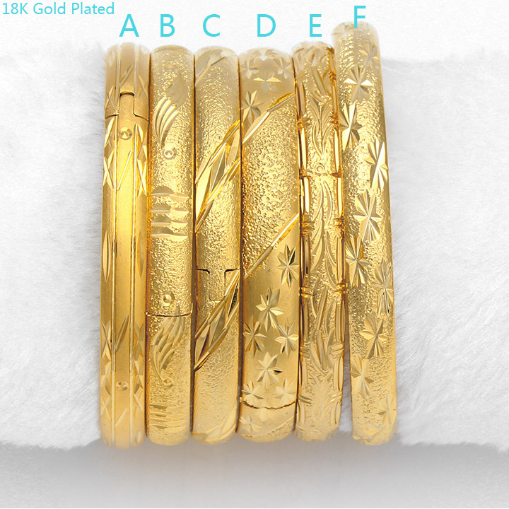 wholesale custom 18k simple gold bangle designs saudi arabia ...