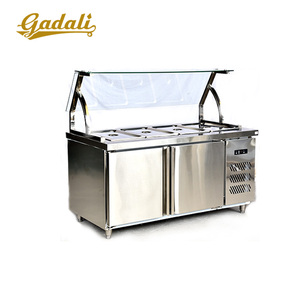 Stainless steel Refrigerated salad bar,salad display refrigerator,salad bar refrigerator sale