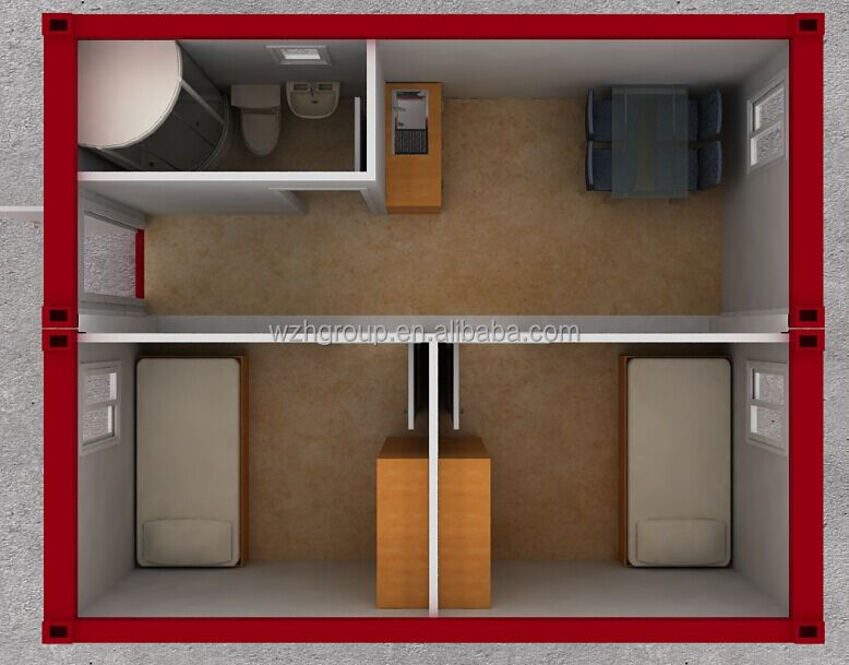 Two - Three Bedroom Family Luxury Folding 40ft Shipping Container House