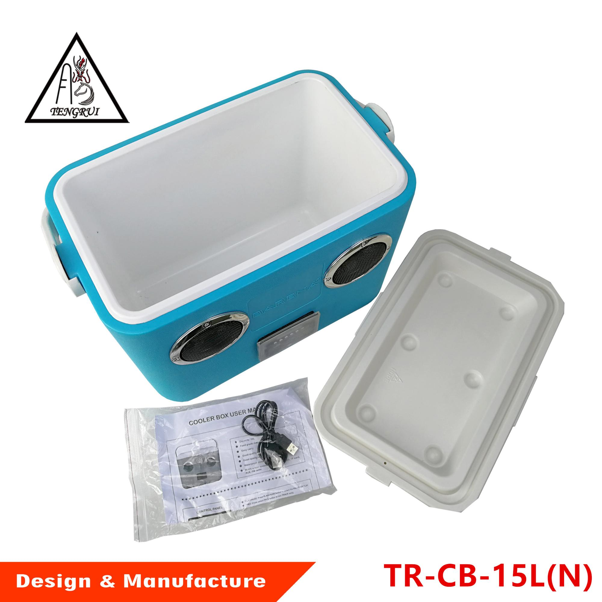 Outdoor camping portable music ice cooler box with bluetooth speaker
