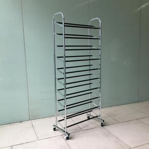 10 tiers shoe rack metal shoe cabinet