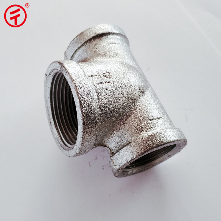 wholesale steel pipe fitting 90 degree ferrule tube galvanized equal cross tee