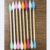 Color bamboo cotton buds with tip side