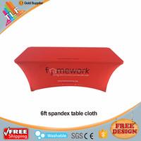 6ft Rectangular Spandex/Lycra Table Cover Stretch Table Cloth Spandex fitted table cover