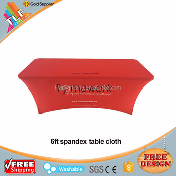 6ft Rectangular Spandex/Lycra Table Cover Stretch Table Cloth Spandex fitted table cover