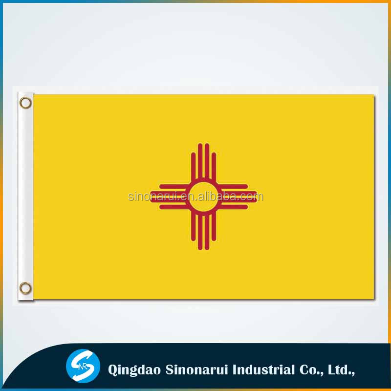 OEM 3x5 flying promotional polyester fabric customized USA new mexico flag