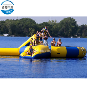 Aqua sports multifunctional inflatable water bouncer floating trampoline