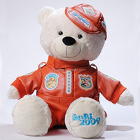 custom plush teddy bear stuffed toy with clothes