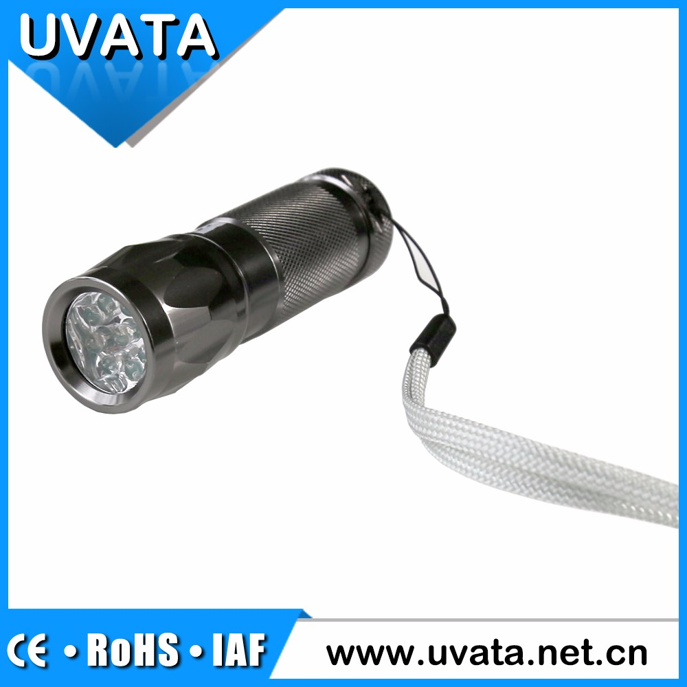 LED Rechargeable Flashlight With 532nm Green Laser Pointer Zoom Torch
