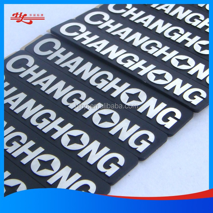 Aluminium embossed nameplate/self adhesive badge