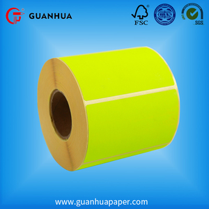 China factory seller wholesale good adhesive label sticker thermal rolls paper roll