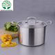 Popular Chinese Silvery 10 Quart Nonstick Three Layer Stainless Steel Stockpot with Lid