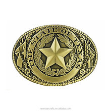 The State of Texas Fashion Antique Brass Belt Buckles