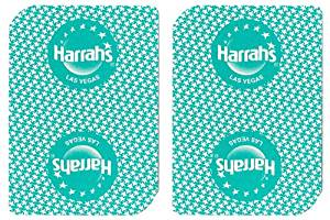 1 Deck Harrah's Casino Playing Cards Used In Real Casino - Free Bounty Button Kit