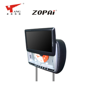 ZOPAI OEM Built-In IR Transmitter Rear Car Headrest Video DVD Player