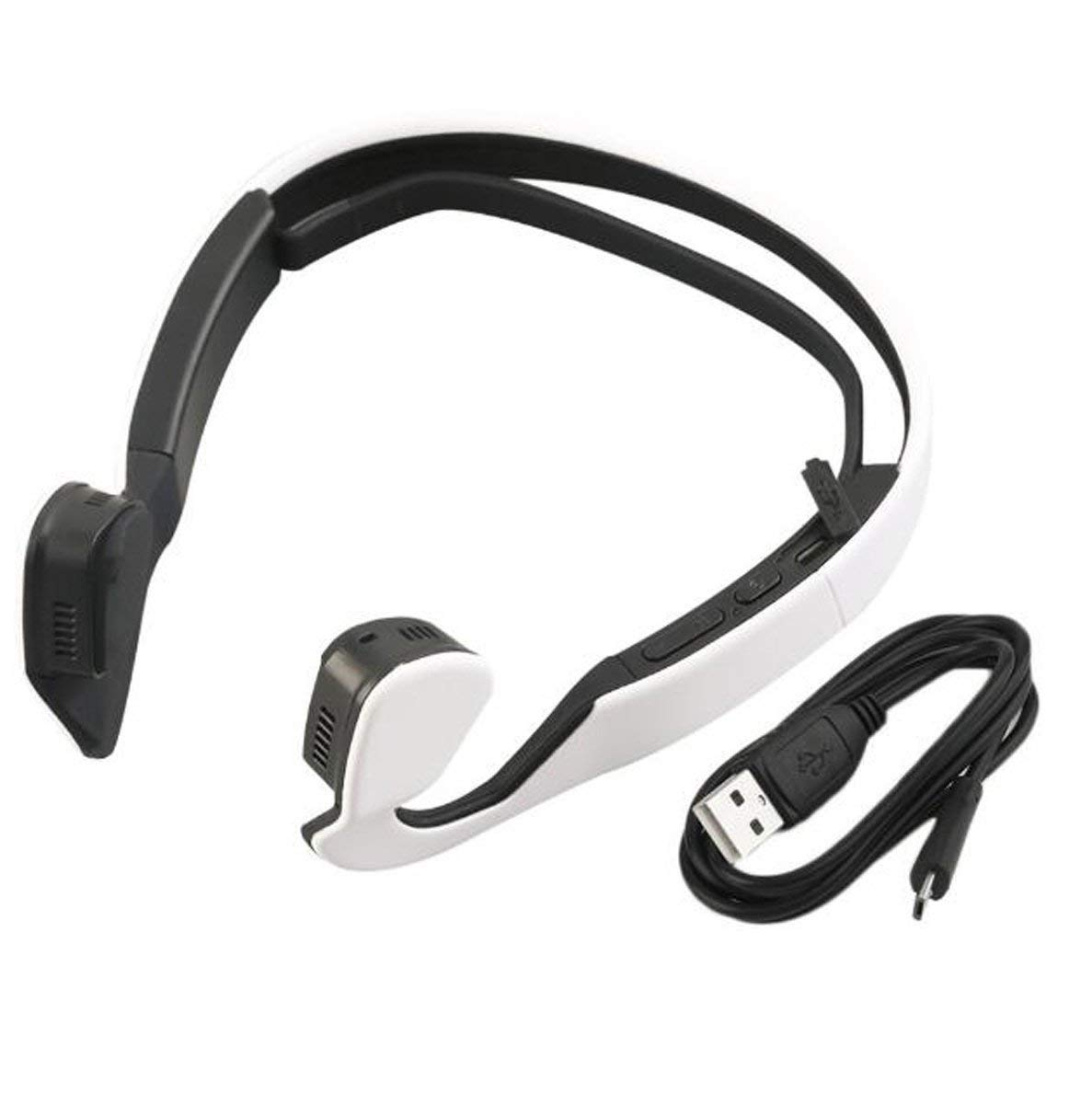DANDANJIE New Bone Conduction Bluetooth 4.1 Noise Reduction Waterproof Sweat Headset Mobile Bluetooth Headset Bone Conduction Headset Wireless Hanging After Running, Driving, Riding Bluetooth Headset