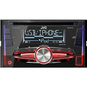JVC CD/MP3/AM/FM/USB Android & iPhone Double-Din Bluetooth Ready Car Stereo Receiver, Pandora and iHeart Radio, Remote control