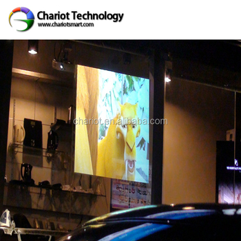 Chariotdiy rear projection screen material for shop window display shop mall advertising store exhibition