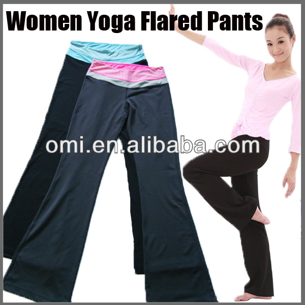 Women in yoga pants bell-bottom workout pants wholesale gym pants