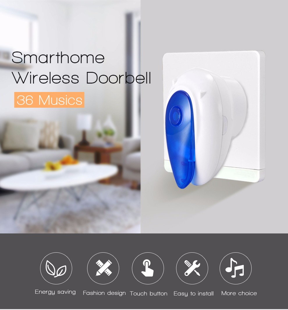 Smart Home P2P Wireless Remote Electric Video Camera Door bell D101