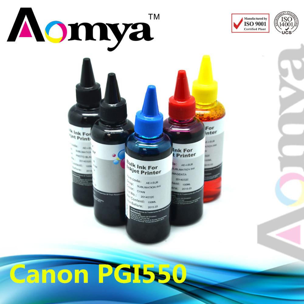 500 мл PGI-550 снпч чернилами на основе красителя для Canon Pixma iP3300 iP4200 iP4300 iP4500 iP5200 iP5200R iP5300 iX4000 iX5000 MP500 MP510 принтеры