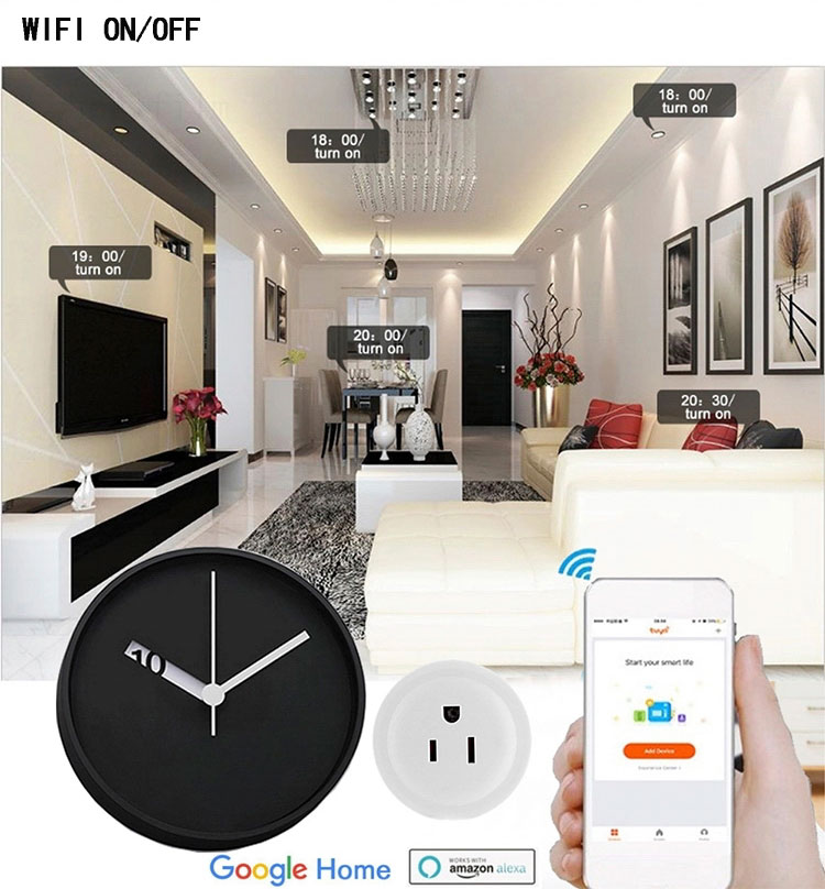 High quality long duration time smart power socket plug smart power socket smart power extension socket