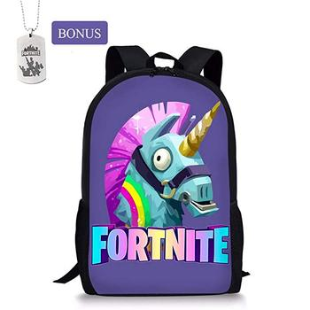 96ff5a333a School bags Knowooh Fortnite games pattern school backpack for girls  orthopedic Schoolbag backpacks for kids (