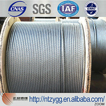 Galvanized Steel Wire Rope 10mm Galvanized Steel Messenger Cable ...