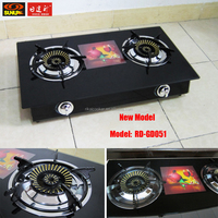 Cheap Model Glass Top 2 burner table gas stove / RD-GD051